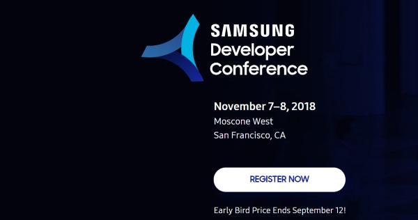 Registration for the Samsung Developer's Conference, 2018