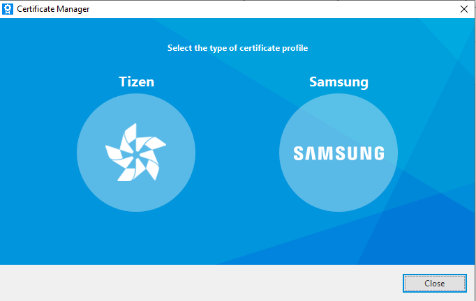 TizenCertificateTypeSelection