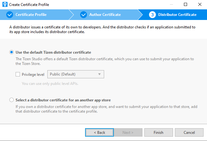 TizenDistributerCertificateType