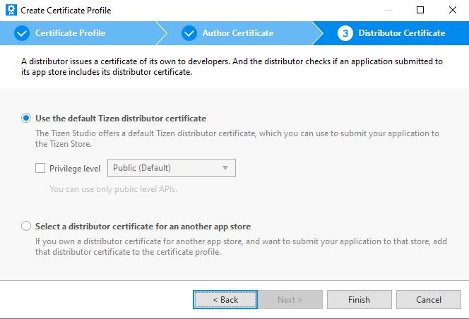 TizenDistributerCertificateType
